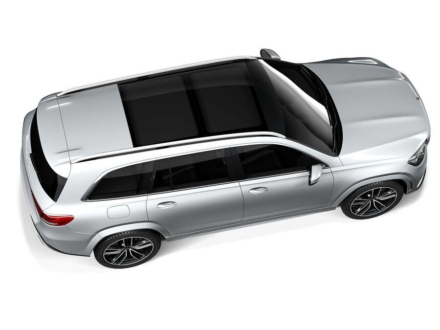Mercedes-Benz GLS 2021 royalty-free 3d model - Preview no. 8