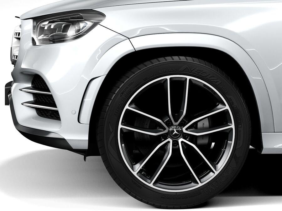 Mercedes-Benz GLS 2021 royalty-free 3d model - Preview no. 11