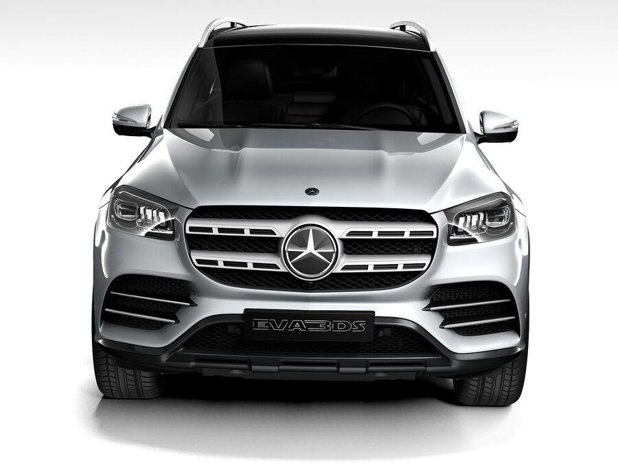 Mercedes-Benz GLS 2021 royalty-free 3d model - Preview no. 10