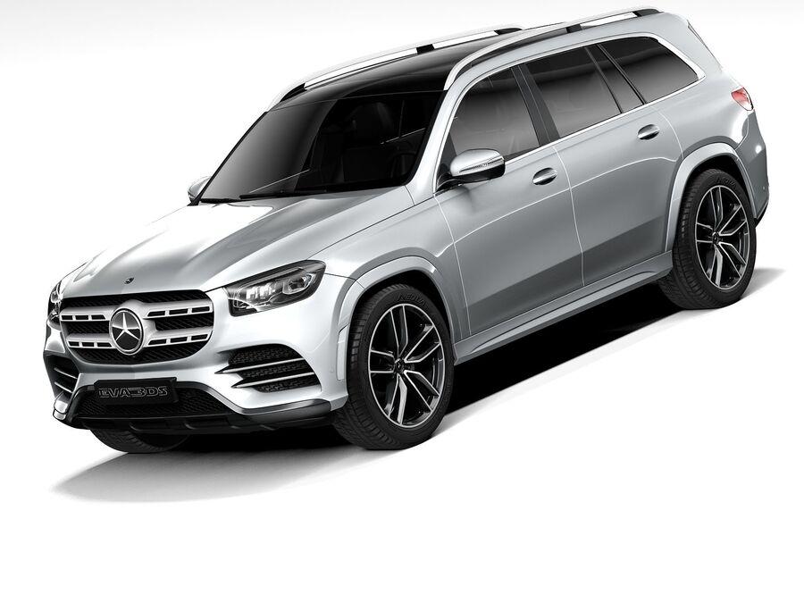 Mercedes-Benz GLS 2021 royalty-free 3d model - Preview no. 1