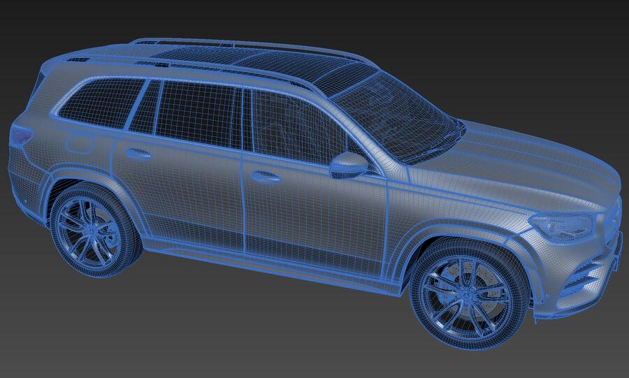 Mercedes-Benz GLS 2021 royalty-free 3d model - Preview no. 13