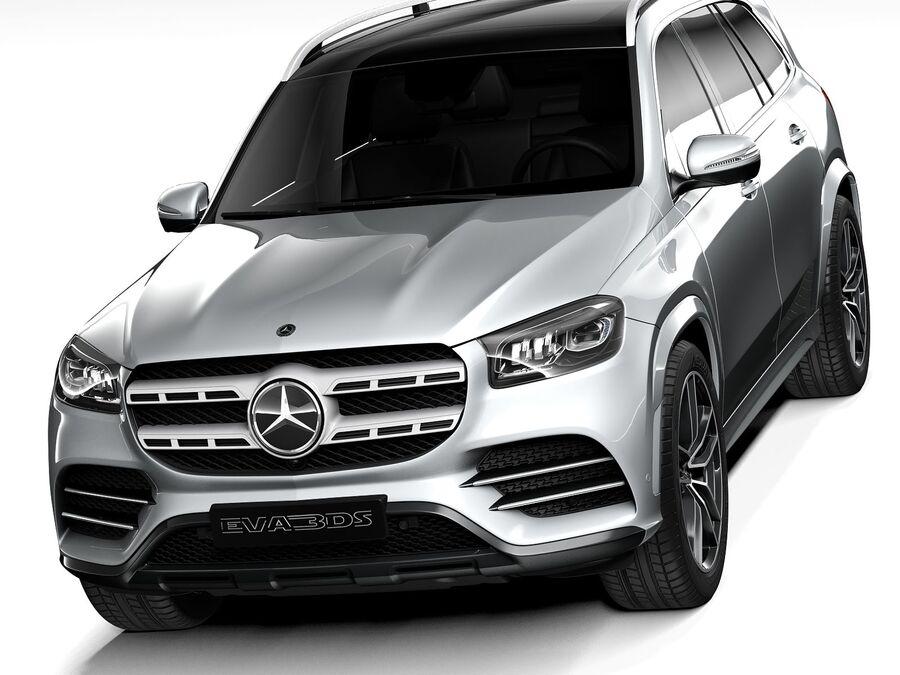 Mercedes-Benz GLS 2021 royalty-free 3d model - Preview no. 2