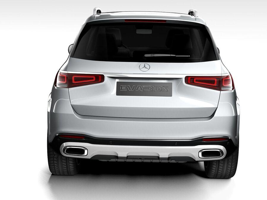 Mercedes-Benz GLS 2021 royalty-free 3d model - Preview no. 9