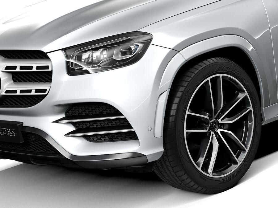 Mercedes-Benz GLS 2021 royalty-free 3d model - Preview no. 3
