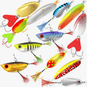 Collezione Mega di esche da pesca 3d model