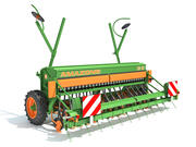 Amazone Seed Drill 3d model