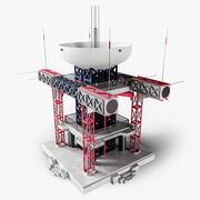 Edificio de alta tecnología 0,1 modelo 3d