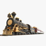 蒸気機関車 3d model