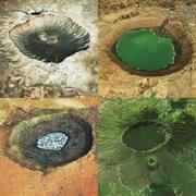 Coleção de crateras 3d model