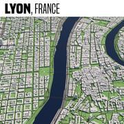 Lyon França 3d model