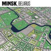Минск Беларусь 3d model
