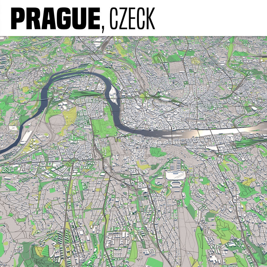 Prag Tschechien royalty-free 3d model - Preview no. 1