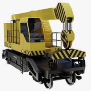 铁路起重机 3d model