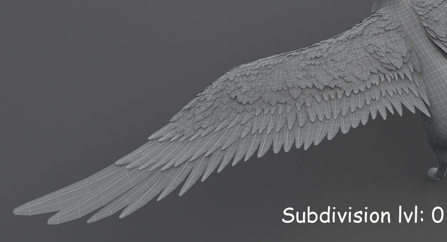 Пегас royalty-free 3d model - Preview no. 20