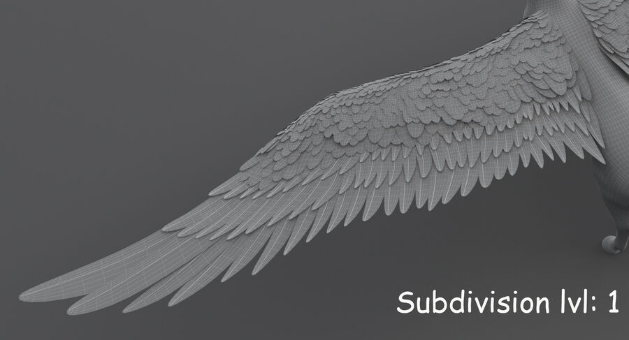 Пегас royalty-free 3d model - Preview no. 21