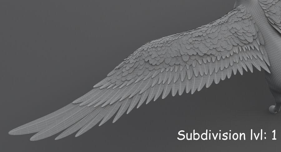 Pegasus royalty-free 3d model - Preview no. 21