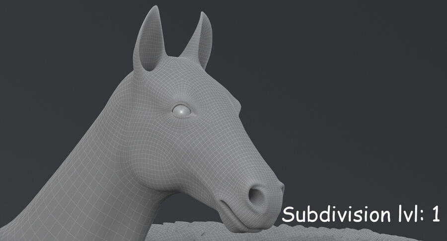 페가수스 royalty-free 3d model - Preview no. 19