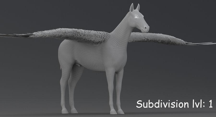 Pegasus royalty-free 3d model - Preview no. 17