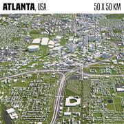 Atlanta 50x50km 3d model