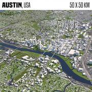 Austin 50x50km 3d model