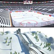 Winter Sports 3d model