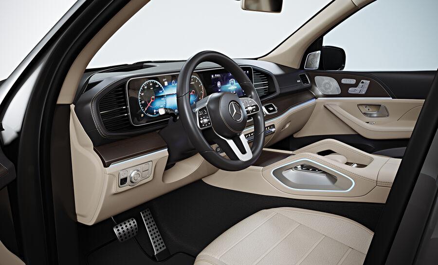 2020 Mercedes-Benz GLS royalty-free 3d model - Preview no. 11
