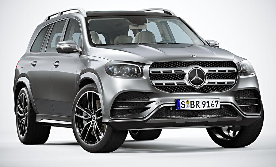 2020 Mercedes-Benz GLS royalty-free 3d model - Preview no. 2