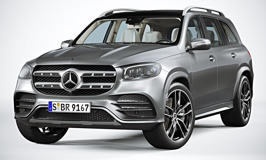 2020 Mercedes-Benz GLS royalty-free 3d model - Preview no. 5