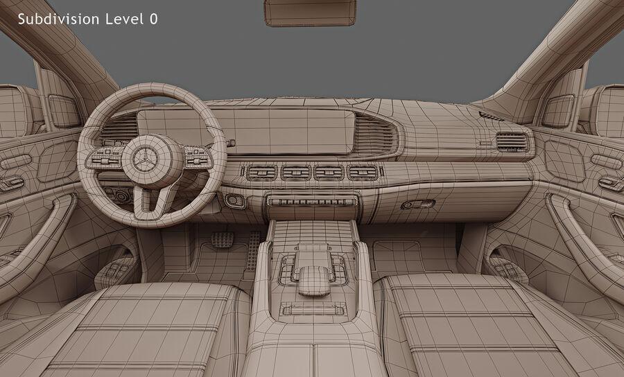 2020 Mercedes-Benz GLS royalty-free 3d model - Preview no. 18