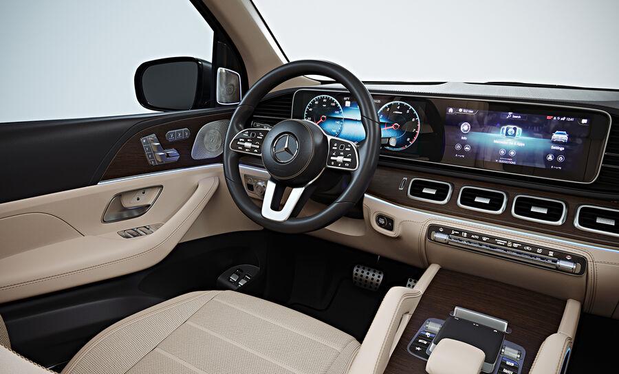 2020 Mercedes-Benz GLS royalty-free 3d model - Preview no. 12