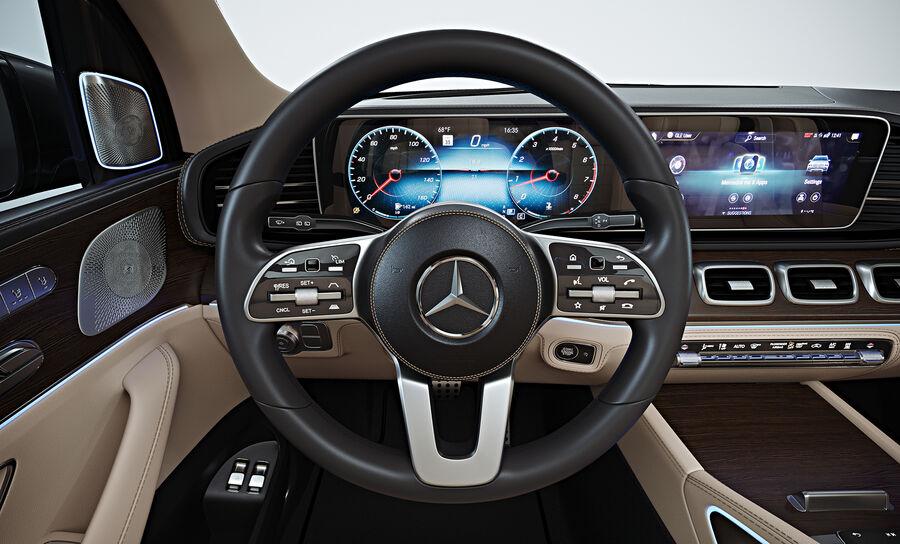 2020 Mercedes-Benz GLS royalty-free 3d model - Preview no. 13