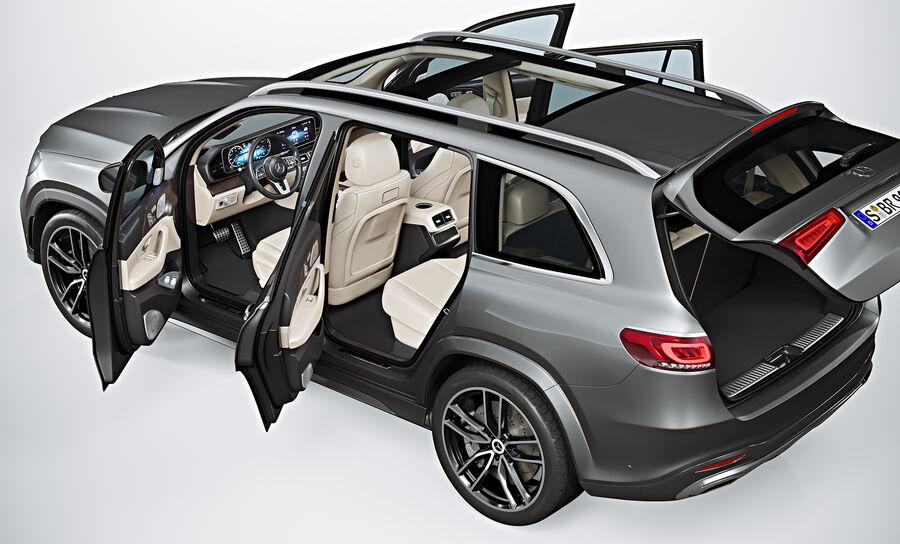 2020 Mercedes-Benz GLS royalty-free 3d model - Preview no. 10