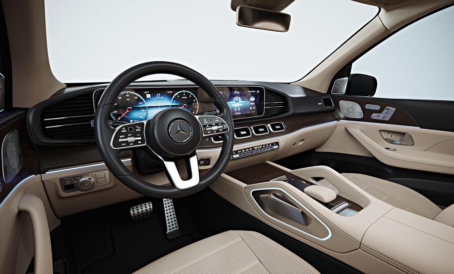 2020 Mercedes-Benz GLS royalty-free 3d model - Preview no. 4