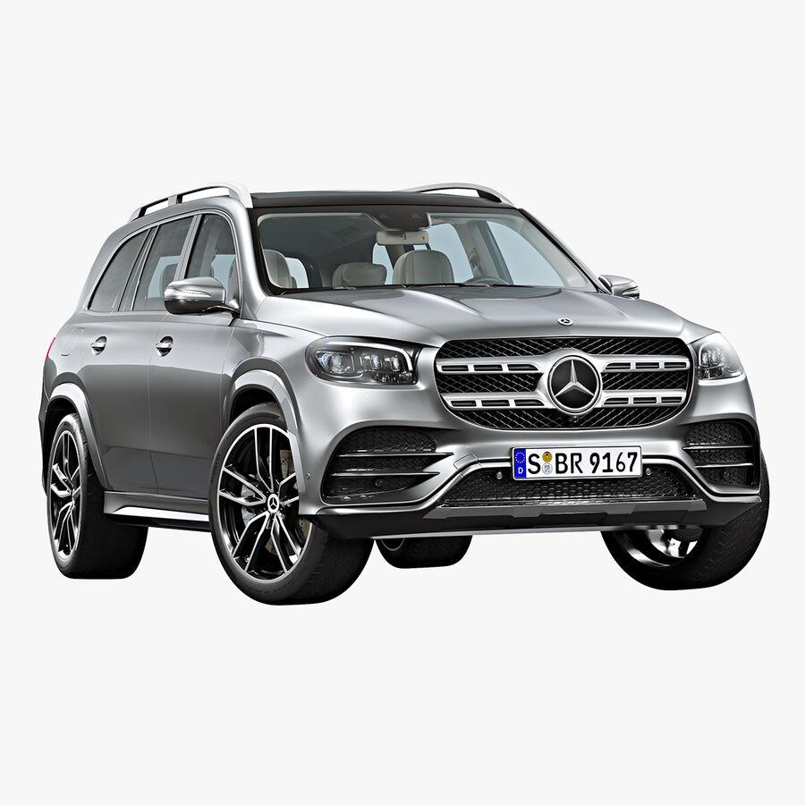 2020 Mercedes-Benz GLS royalty-free 3d model - Preview no. 1
