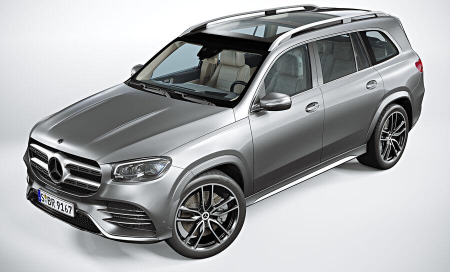 2020 Mercedes-Benz GLS royalty-free 3d model - Preview no. 7