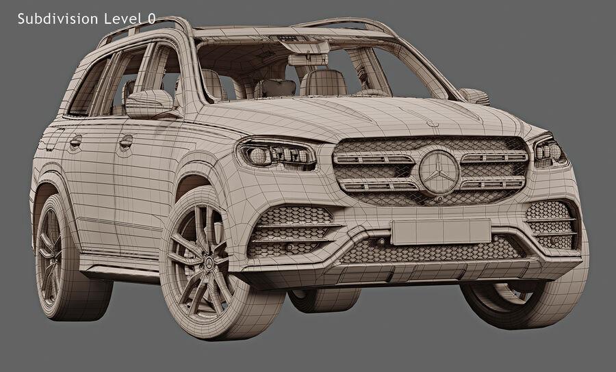 2020 Mercedes-Benz GLS royalty-free 3d model - Preview no. 16