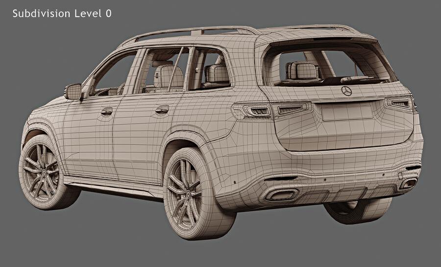 2020 Mercedes-Benz GLS royalty-free 3d model - Preview no. 17