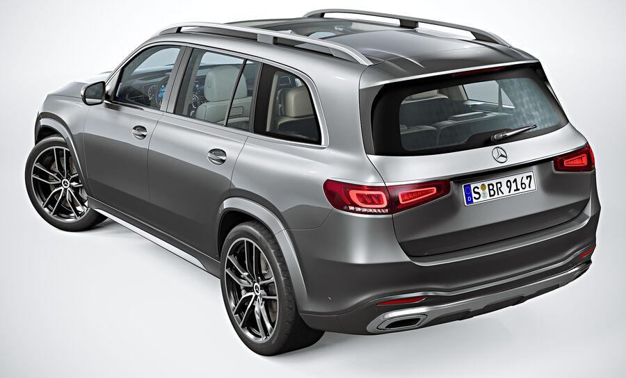 2020 Mercedes-Benz GLS royalty-free 3d model - Preview no. 6