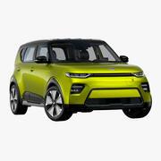 2020年起亚Soul EV 3d model