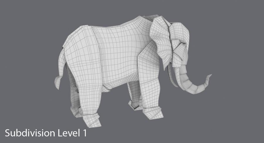 Origami djur samling royalty-free 3d model - Preview no. 44
