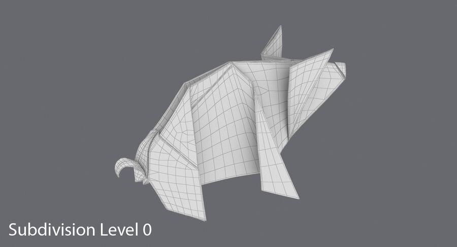 Origami djur samling royalty-free 3d model - Preview no. 36