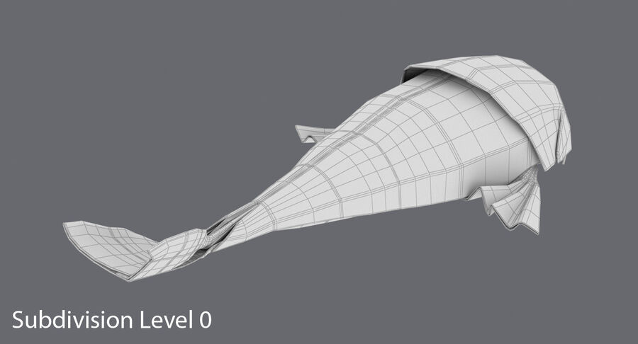 Origami djur samling royalty-free 3d model - Preview no. 70