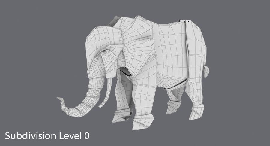 Origami djur samling royalty-free 3d model - Preview no. 45