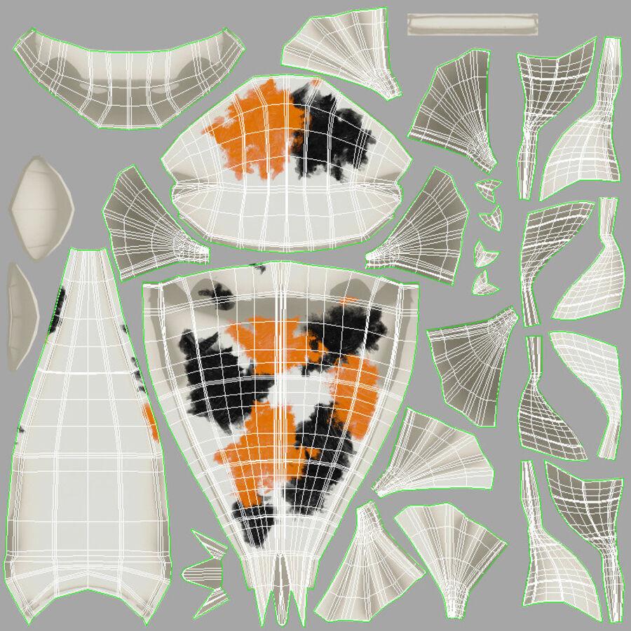 Origami djur samling royalty-free 3d model - Preview no. 14