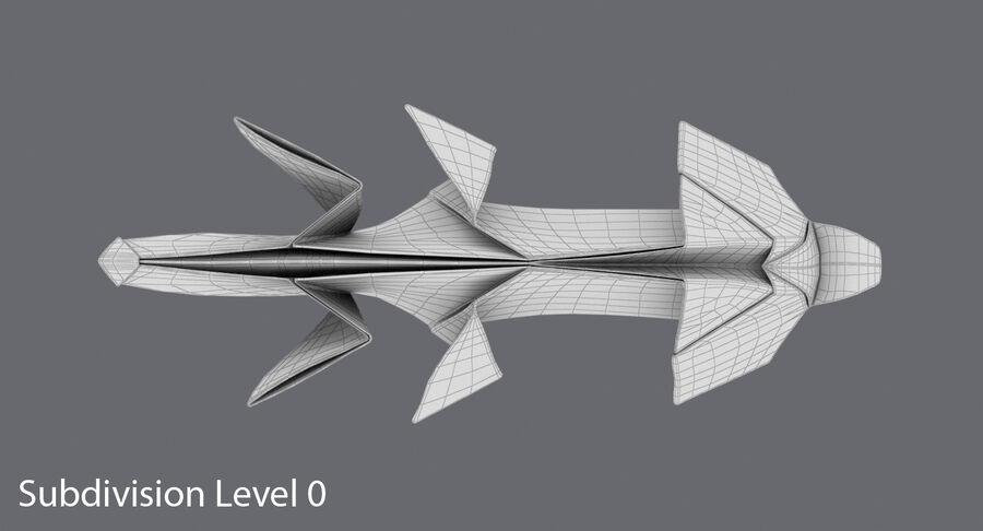 Origami djur samling royalty-free 3d model - Preview no. 35