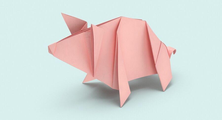 Origami djur samling royalty-free 3d model - Preview no. 28