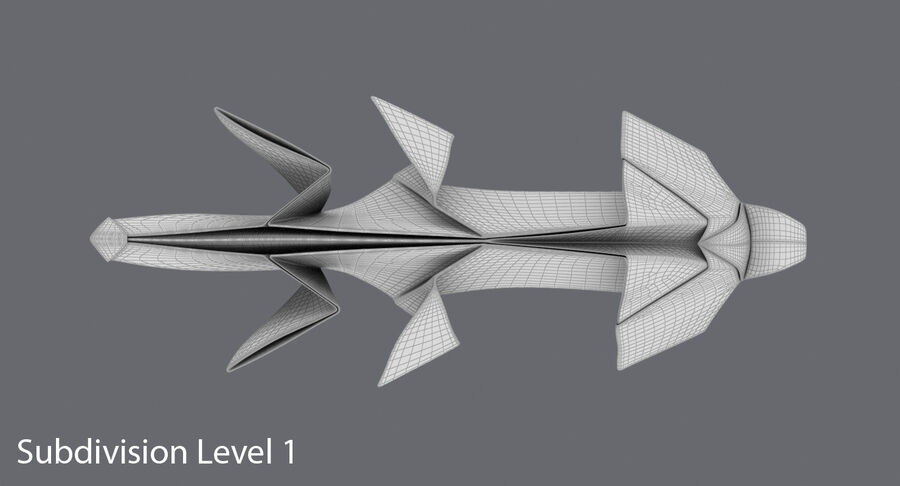 Origami djur samling royalty-free 3d model - Preview no. 32