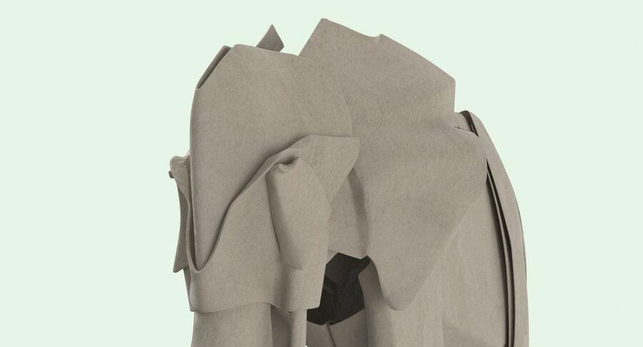 Origami djur samling royalty-free 3d model - Preview no. 40