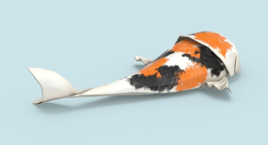 Origami djur samling royalty-free 3d model - Preview no. 6