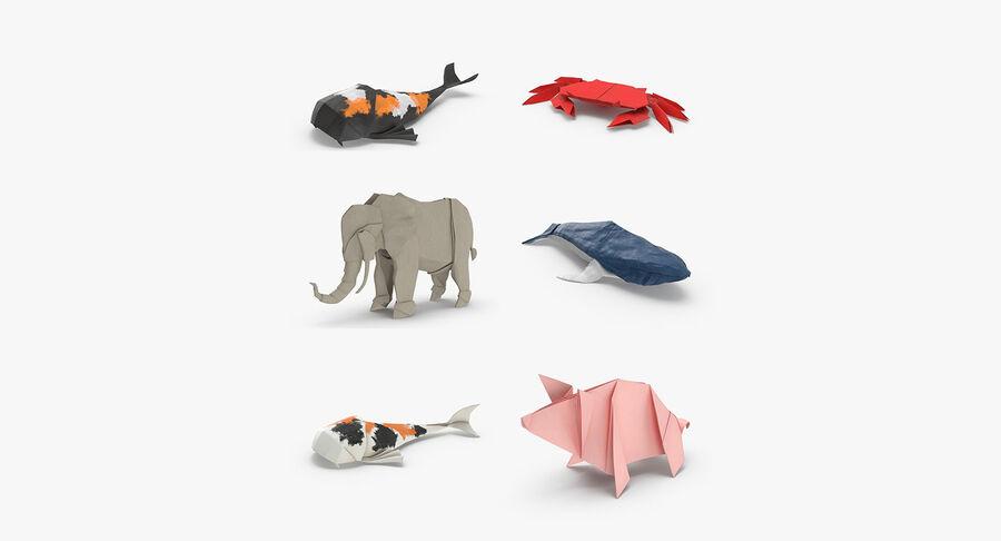 Origami djur samling royalty-free 3d model - Preview no. 2